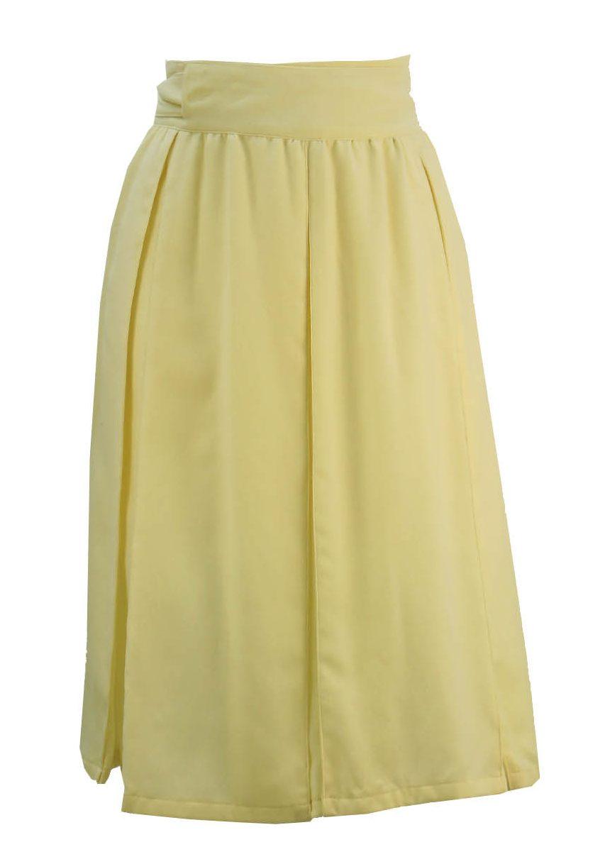 pleated a line wrap skirt s vintage