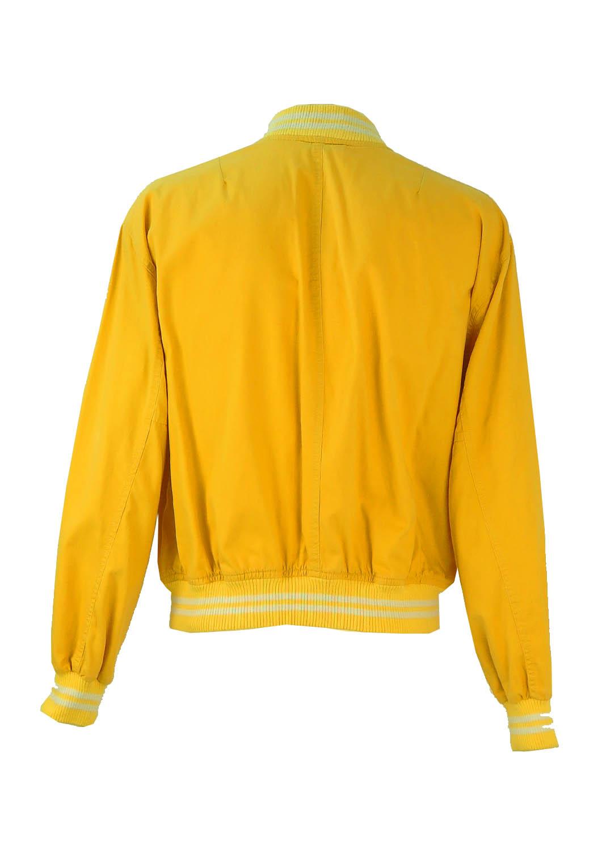 Levi S Yellow Cotton Baseball Bomber Jacket L Xl Reign