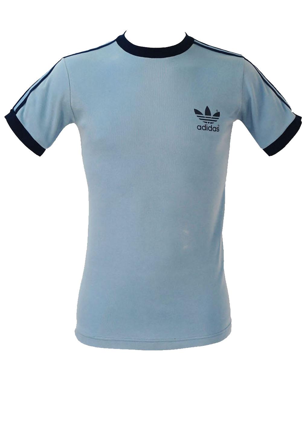 Vintage 80's Adidas Light Blue T-Shirt – XS/S – Reign Vintage