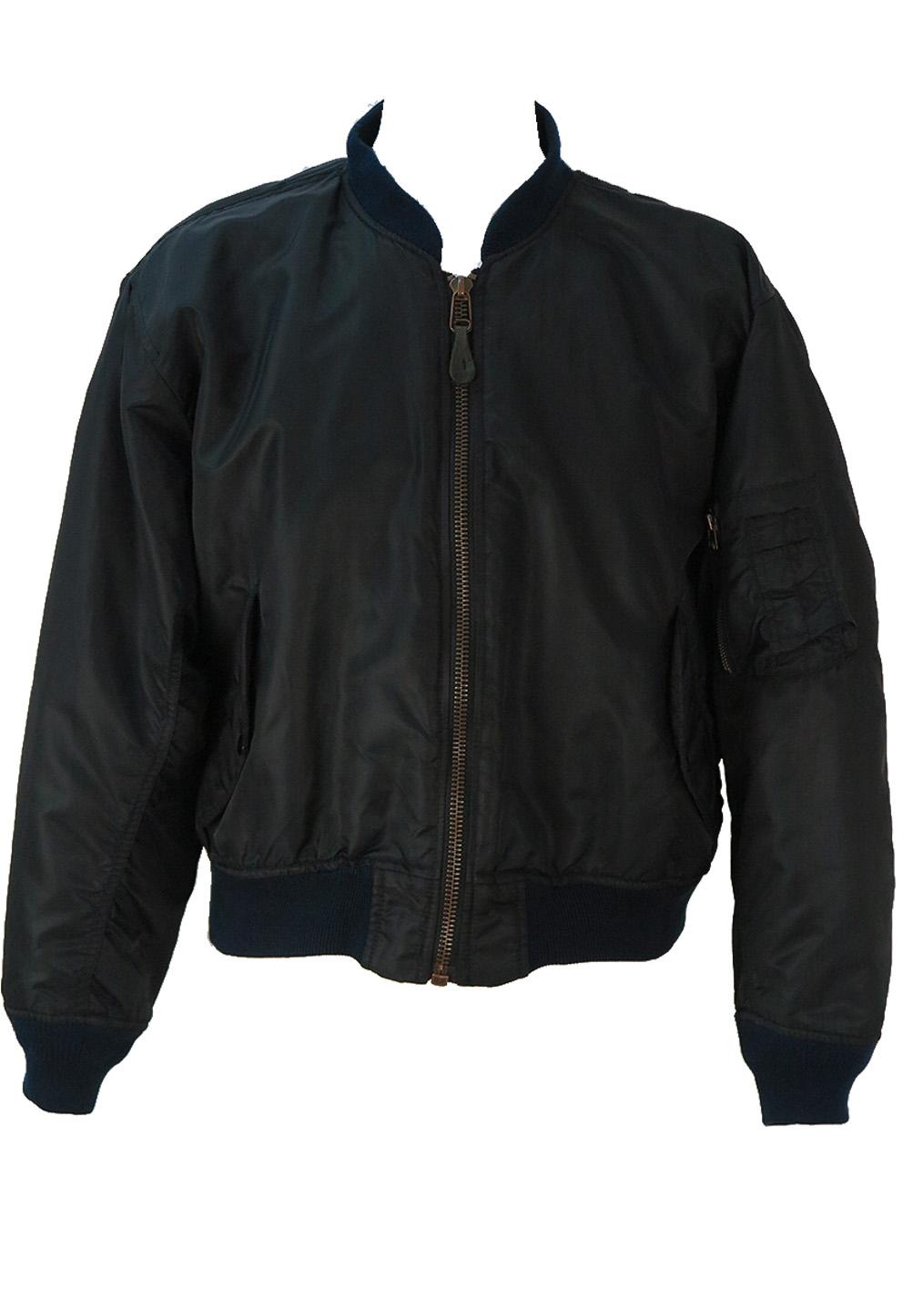 Reversible Ma1 Bomber In Black Or Orange L Xl Reign Vintage