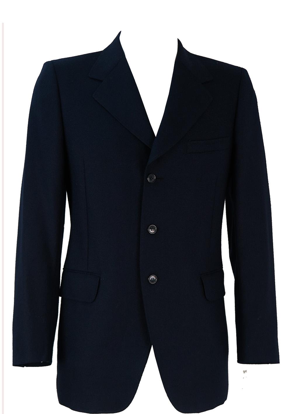 28f8ba1e3 Pure New Wool Navy Blazer Jacket - M