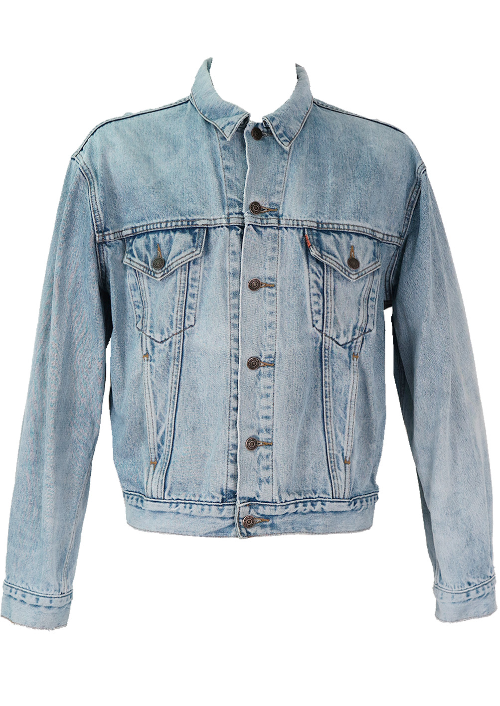 Levis Light Blue Denim Jacket L Xl Reign Vintage