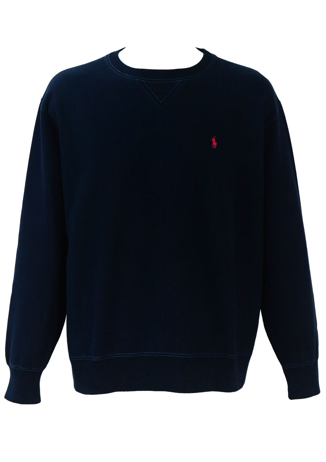 33482c89e56a2 Ralph Lauren Polo Sport Navy Blue Sweatshirt with Stitching Detail - XL XXL