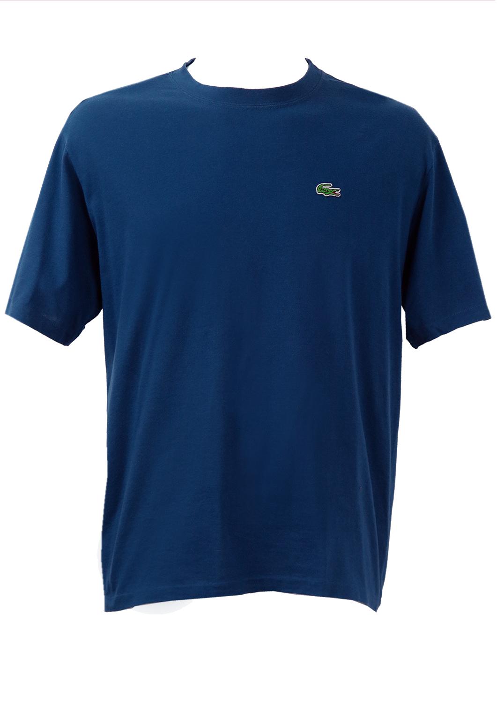 lacoste short sleeved t shirt in blue l xl reign vintage. Black Bedroom Furniture Sets. Home Design Ideas