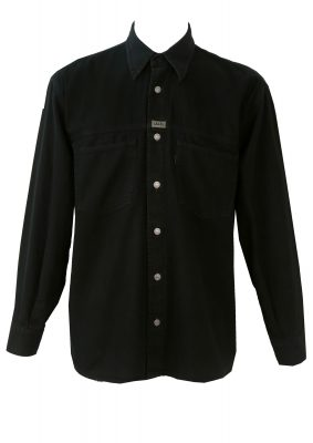 Levi's Black Cotton Shirt – M/L