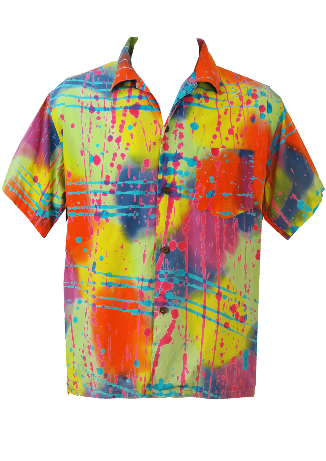 Short sleeved bright multi coloured tie dye paint for Nike tie dye shirt and shorts