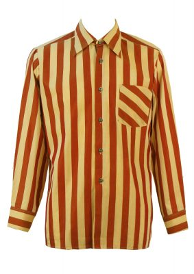 Russet and Beige Striped Tonic Shirt – M/L