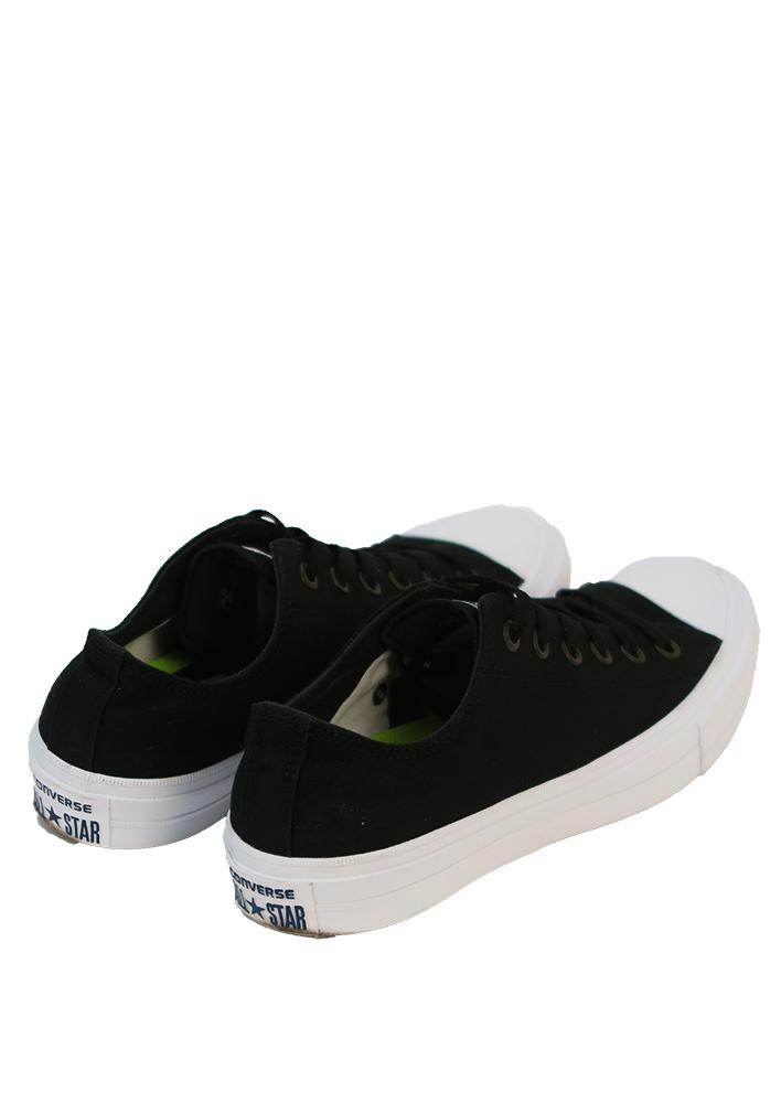 46b70d4b13c46c Black Converse Trainers with White Soles – UK Size 7.5 – Reign Vintage