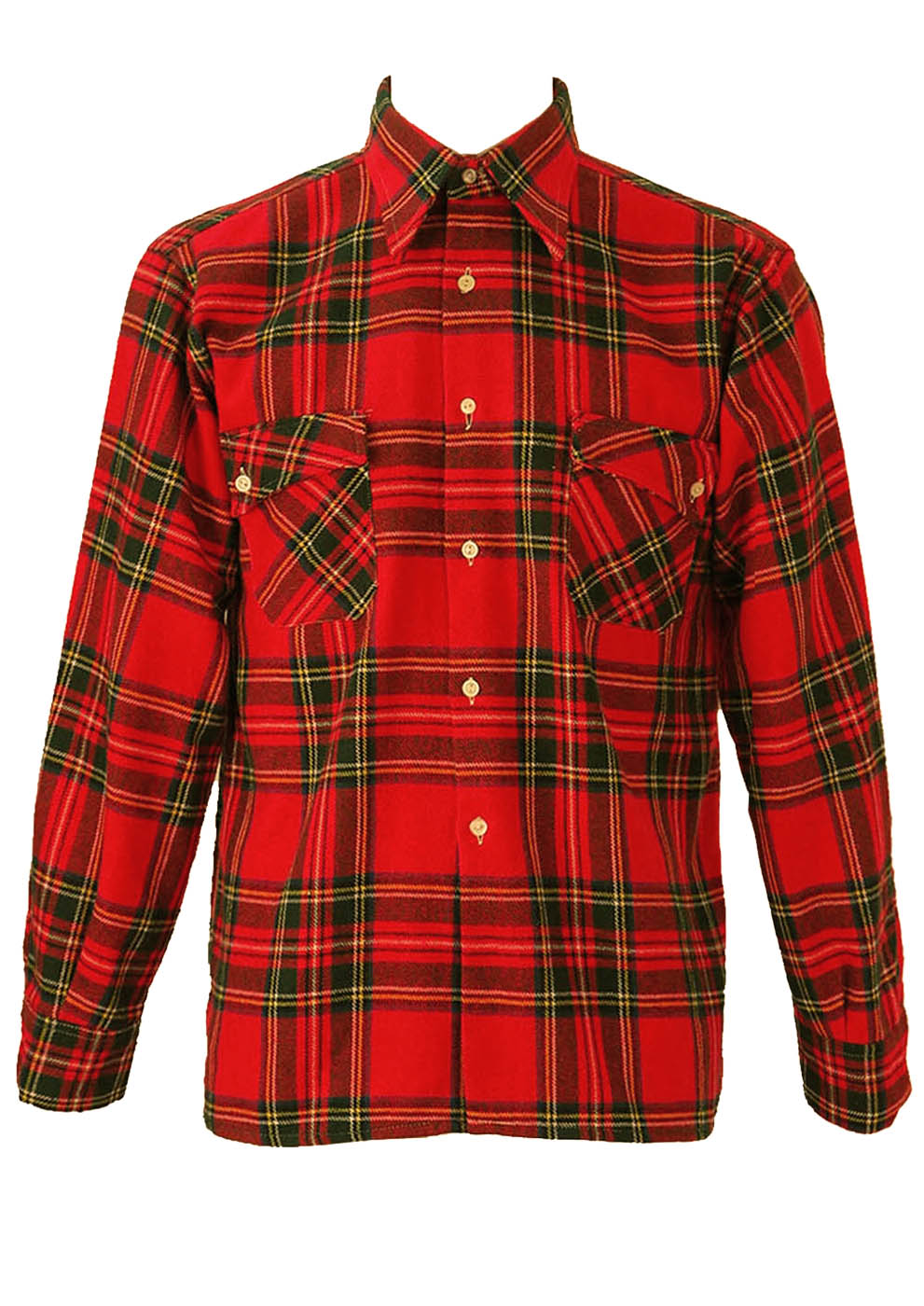 classic red tartan check flannel shirt m l reign vintage