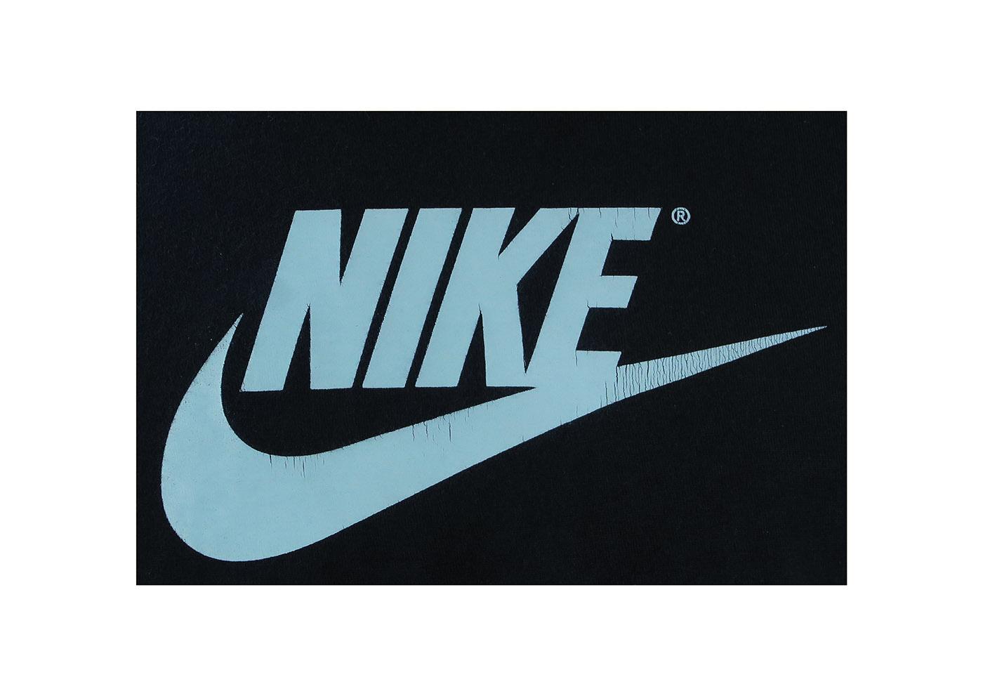 Navy Blue Nike Logo