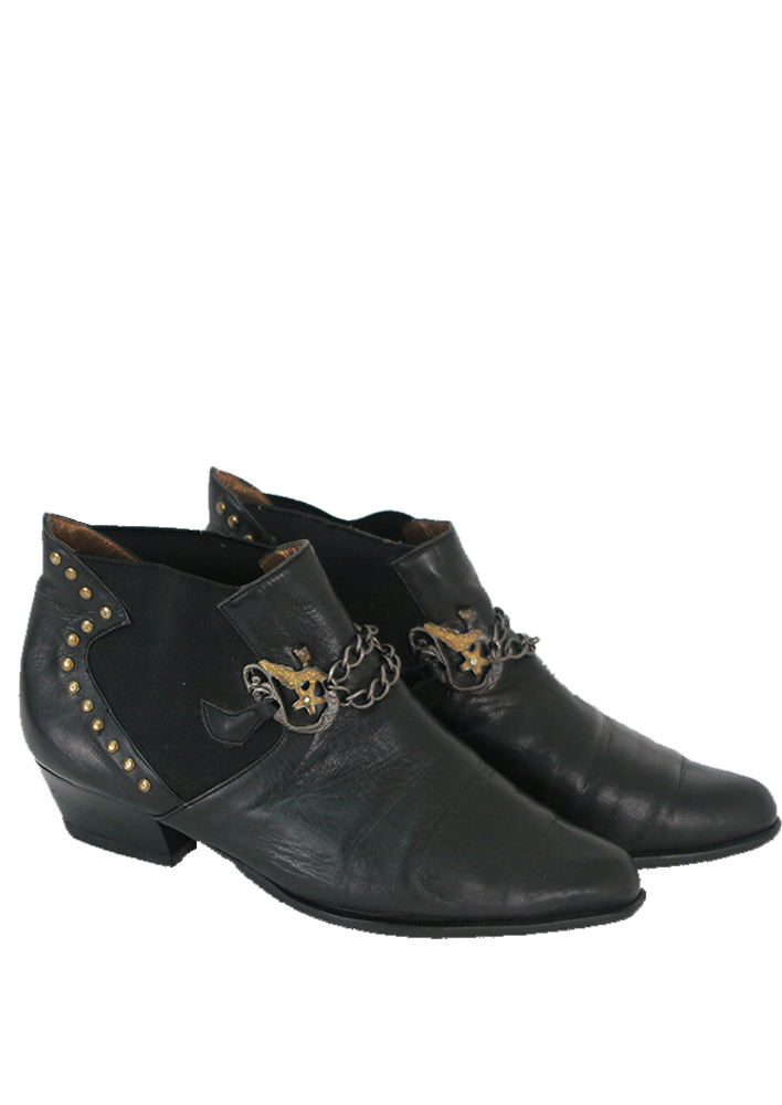 Stud Rock Chick Ankle Boots – UK