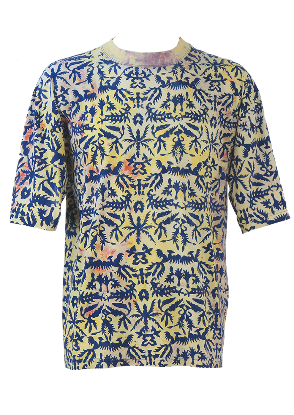 Erstaunlich Multicoloured Tie Dye U0026 Batik Pattern T Shirt .