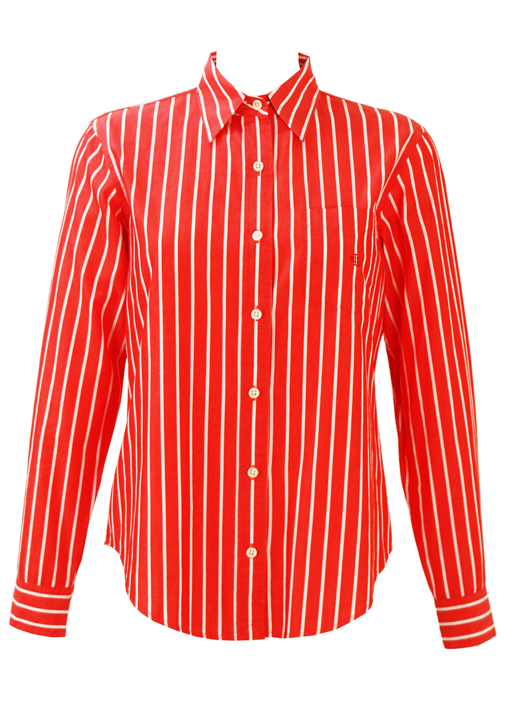 a630bd650def3 Ralph Lauren Red and White Striped Shirt – S M – Reign Vintage