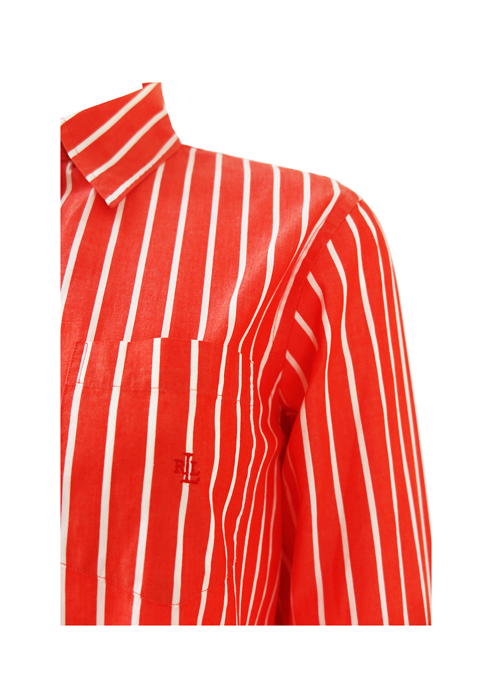 338d8b0a573c4 Ralph Lauren Red and White Striped Shirt - S M. Touch to zoom. IMG 4338