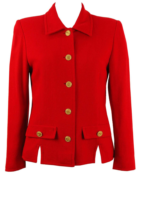 855c6363cdd Luisa Spagnoli Red Wool Jacket – M – Reign Vintage