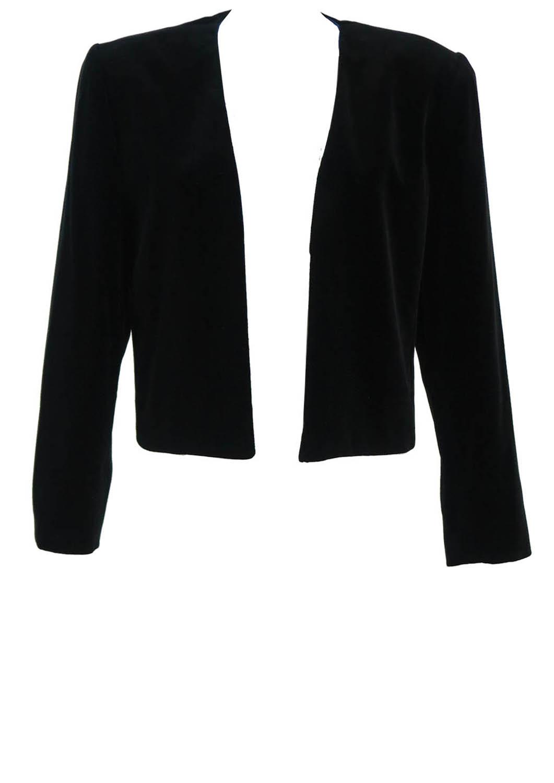 Luisa Spagnoli Black Velvet Bolero Evening Jacket M L