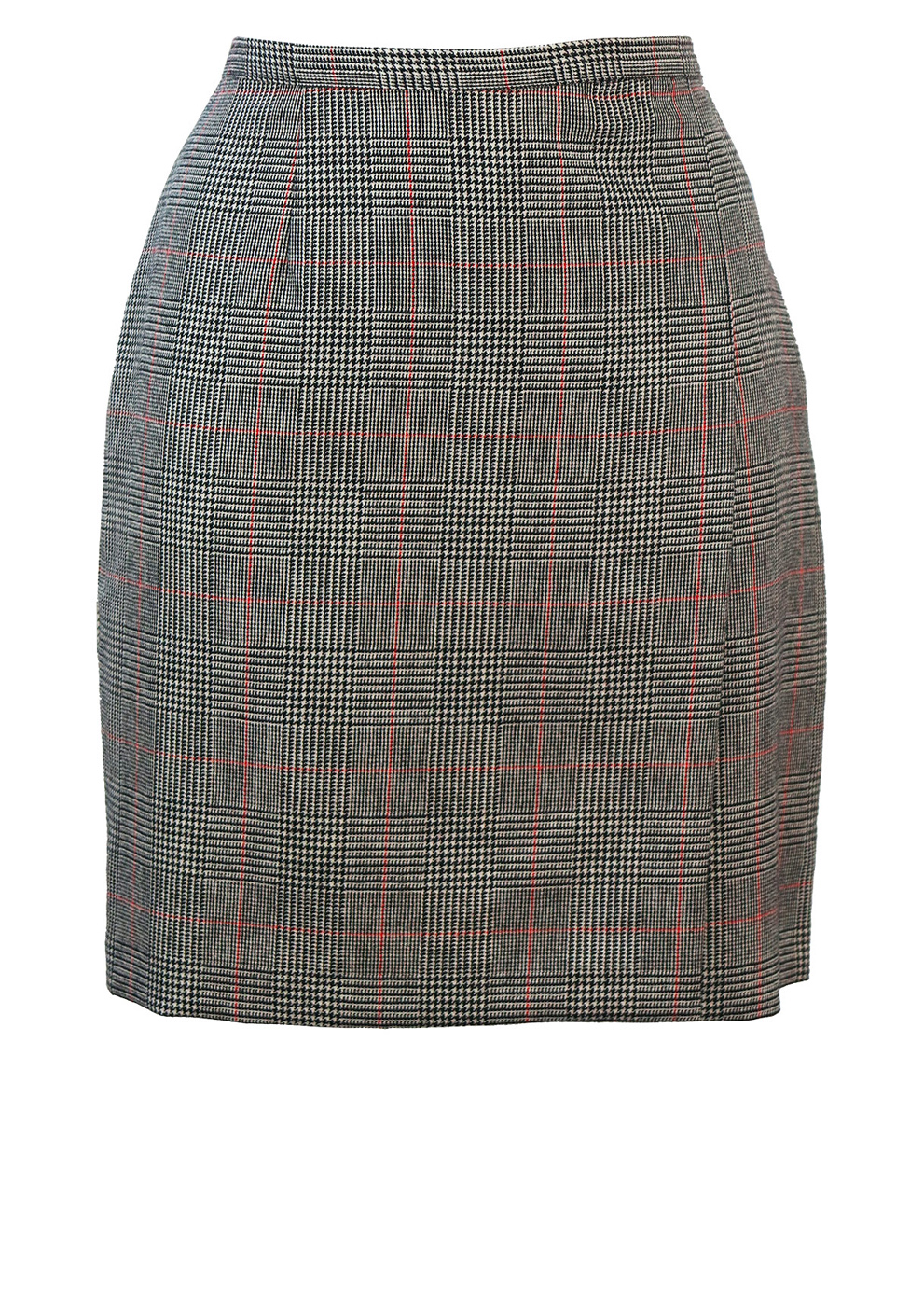 e9ba4a1f9b Prince of Wales Check Pure Wool Mini Skirt with Side Pleat – S/M ...