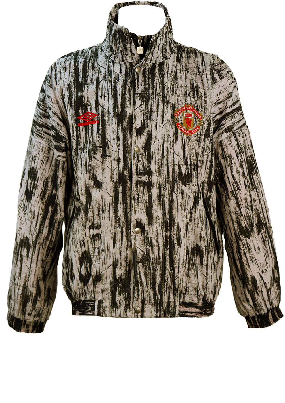 7f80977162c Vintage 90 s Graphic Black   White Manchester United Umbro Track Jacket - L  XL. Touch to zoom