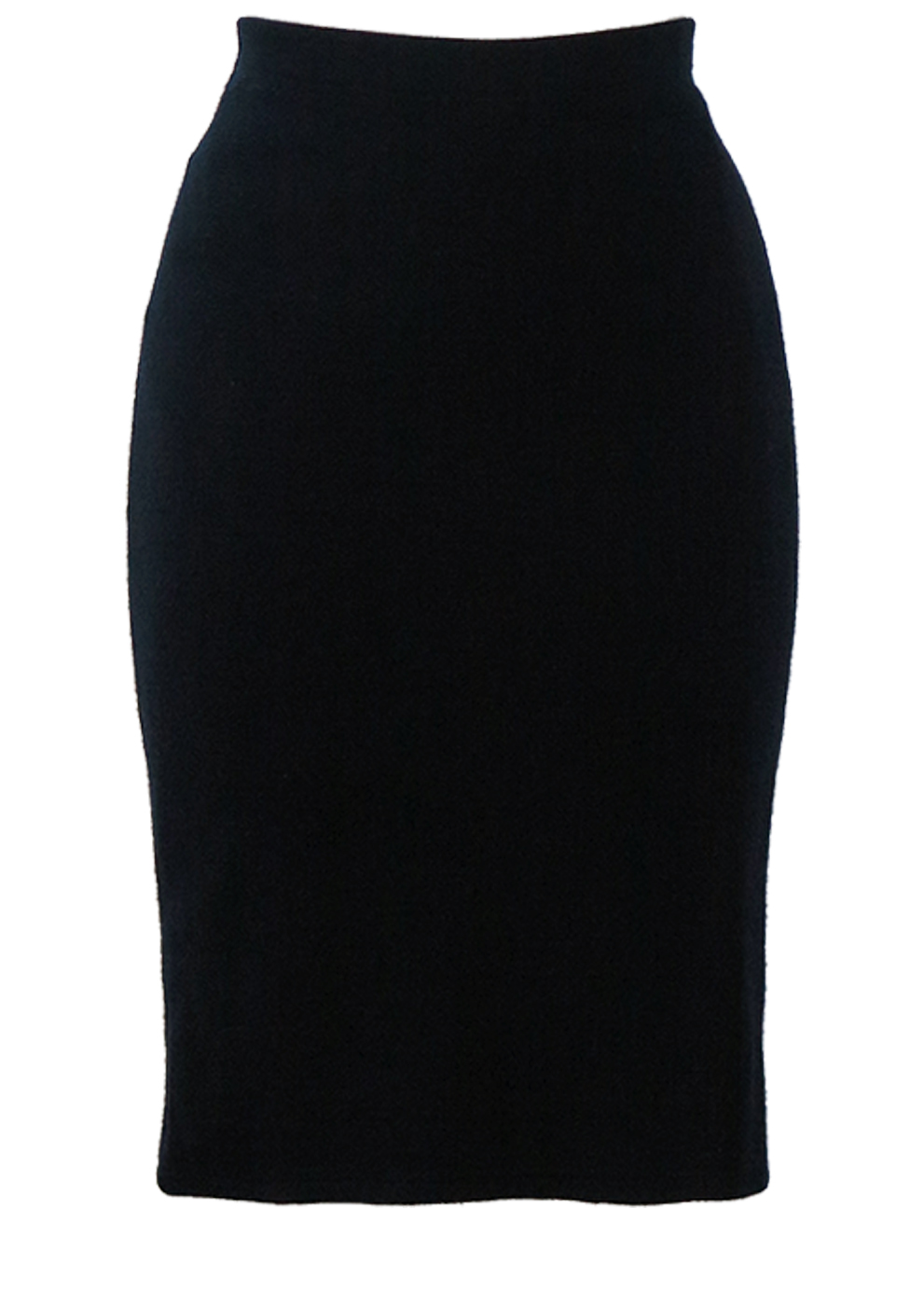 300e4f84b3 Navy Blue Jersey Knit Bodycon Pencil Skirt – S – Reign Vintage