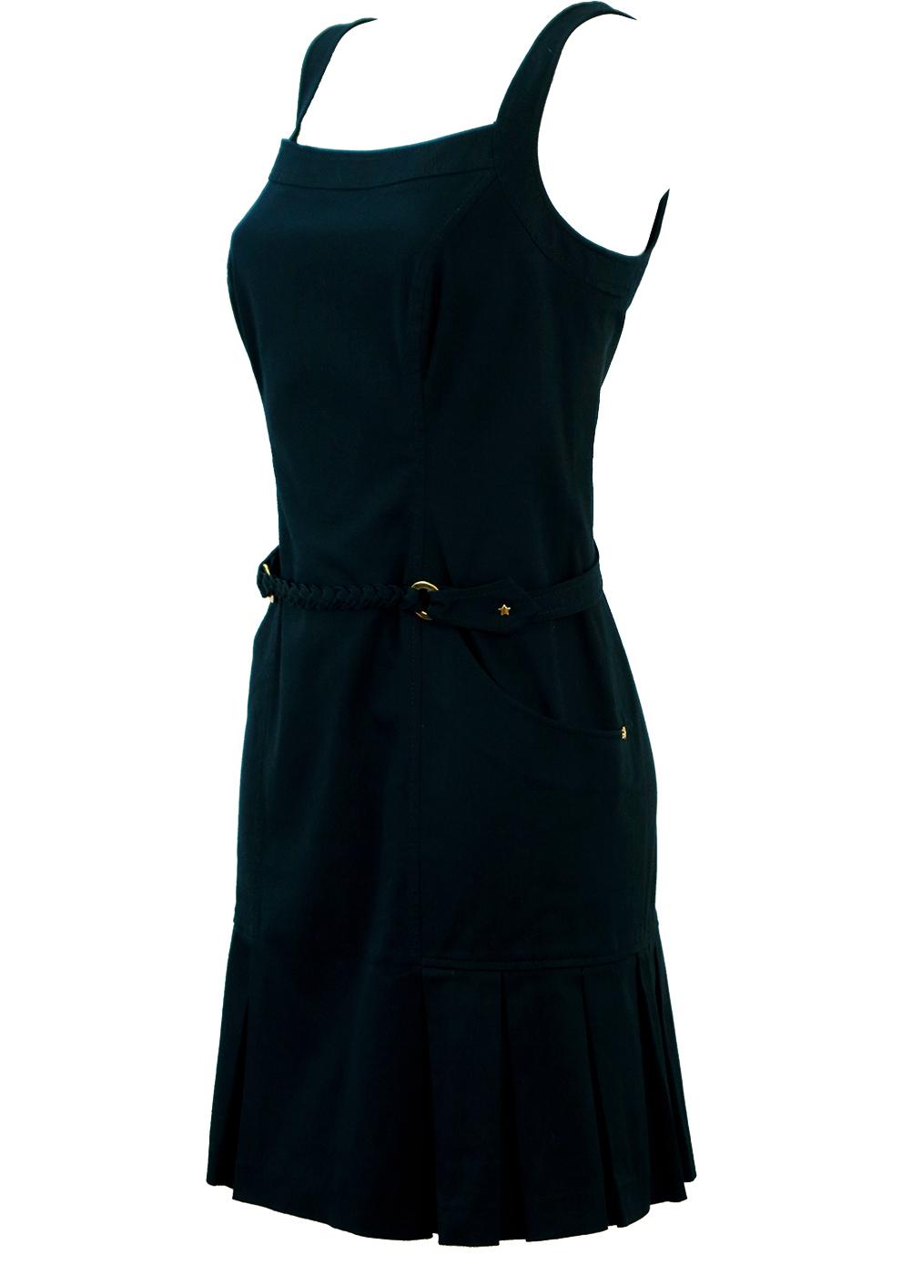 adbecfb373 Luisa Spagnoli Navy Blue Nautical Style Above the Knee Dress – M/L ...