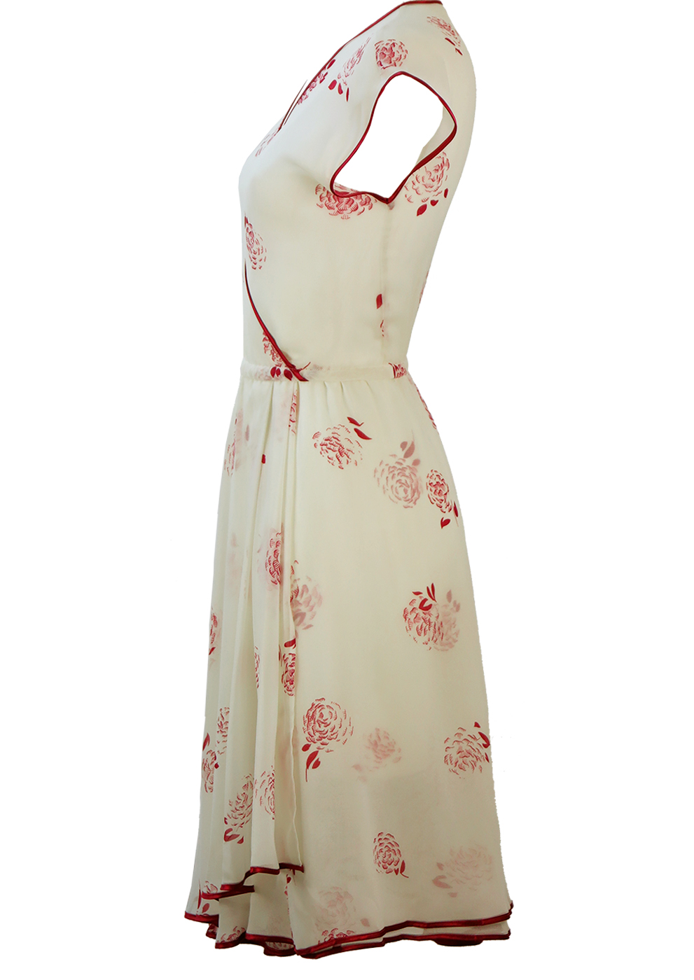 fb5952423d63d Semi Sheer White Floaty Midi Dress with Burgundy Floral Design & Layered  Skirt – M. Semi Sheer White Floaty Midi Dress with Burgundy Floral Design &  Layered ...
