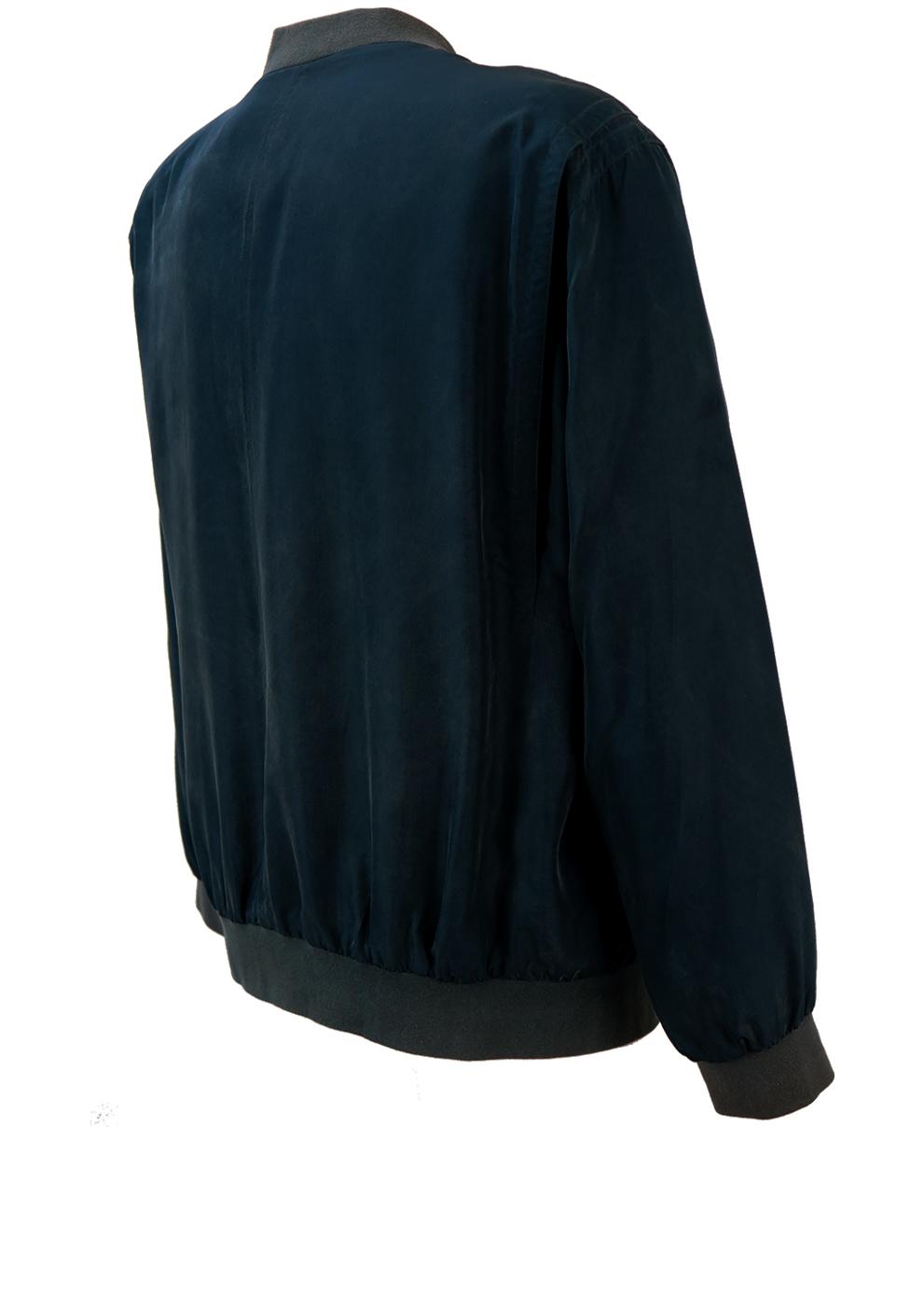 Vintage 90 S Blue Silk Bomber Jacket Xl Xxl Reign Vintage