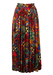 90's Maxi Skirt with Abstract Multi Colour Design - S