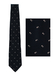 Giorgio Armani Navy Blue Tie with White Tulip Print