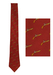 Hermes Maroon Silk Tie with Pistol Pattern