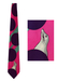 Iceberg Fuchsia Pink & Purple Silk Tie with Cheeky Seal Design