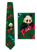 'Save The Panda' Green and Purple Silk Tie