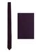 Purple Satin Sheen Skinny Tie