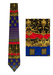 Lavish Baroque Style Silk Tie in Blue, Red & Gold