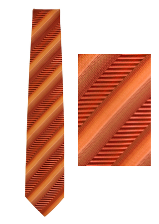 Silk Diagonally Striped Tonic Tie in Pink, Peach & Orange