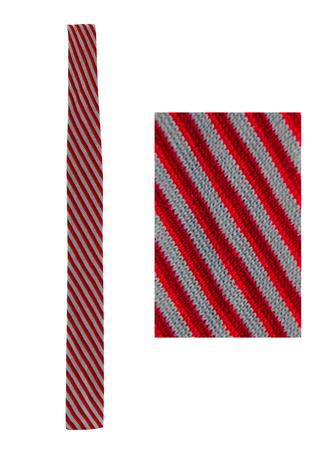 Ermenegildo Zegna Red & Blue Striped Skinny Knit Tie