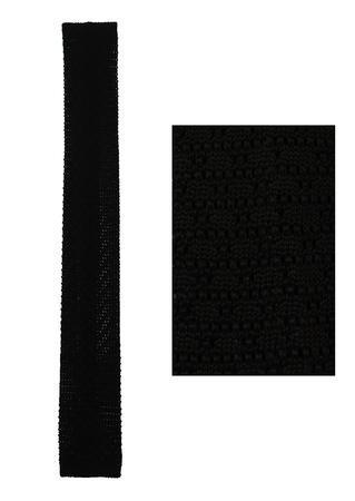 'Holliday & Brown' Black Knit Square Cut Slim Tie