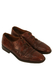 Hand Made Tan Brown Crocodile Effect Leather Derby Shoes - UK Size 6