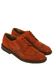 Leather Derby Brogue Shoes in Tan Orange - UK Size 9.5