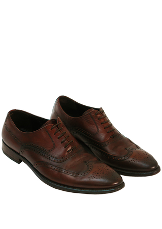 Marco Ferretti Dark Brown Leather Oxford Brogues - UK Size 9.5