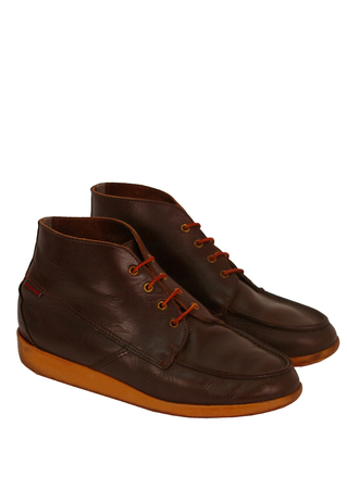 Brown Leather 'Sebago' Ankle/Desert Boots - UK Size 9