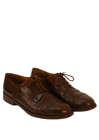 'The Bridge' Brown Leather Derby Brogues - UK Size 8