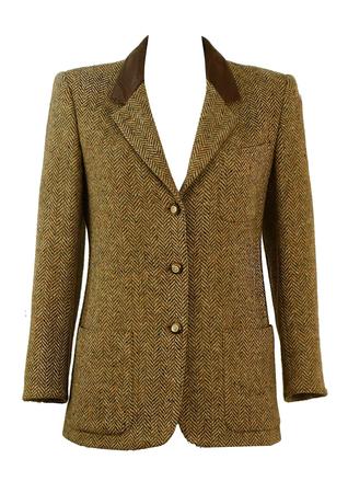 Max Mara 'SportMax' Herringbone Tweed Jacket - M