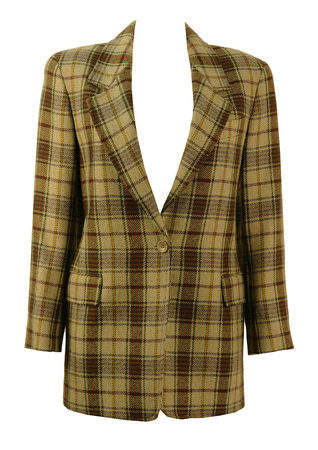 MaxMara 'Max & Co' Green Check Jacket - M