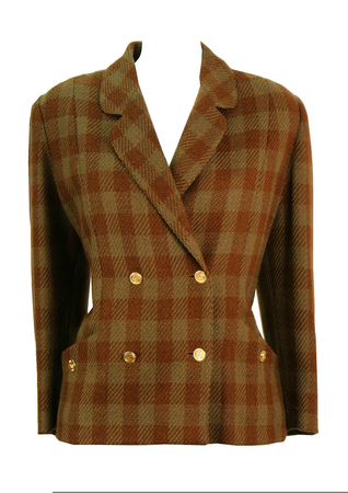 Luisa Spagnoli Autumnal Check Wool Jacket - M