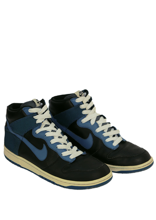 Nike Hi Tops in Black & Blue - UK Size 10