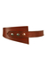 Brown Leather Belt with Silver & Copper Press Stud Fastenings