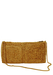Straw Clutch Bag with Gold Chain Shoulder Strap