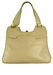 Vintage 1960's Cream Leather Handbag with Outer & Inner Pockets