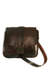 Dark Brown Leather Satchel with Adjustable Shoulder Strap