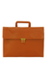 Tan Leather Briefcase with Retractable Handle